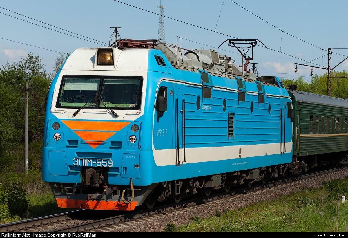 ЭП1М является модернизированным вариантом электровоза ЭП1.  Тип: пассажирский электровоз переменного тока...