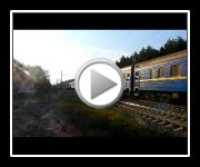Электровоз ЧС4-196 с составом Киев - Ивано-Франковск